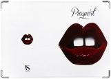 Обложка на паспорт с уголками, Lips