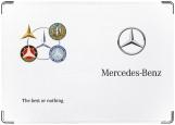 Обложка на автодокументы с уголками, Mercedes Мерседес
