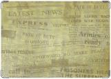 Обложка на паспорт с уголками, Newspaper