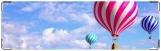 Визитница/Картхолдер, шары на фоне неба