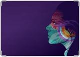 Обложка на паспорт с уголками, Фиолетовый