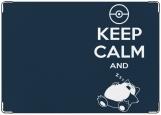 Обложка на паспорт с уголками, Keep calm and sleep