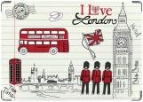 Обложка на паспорт с уголками, London