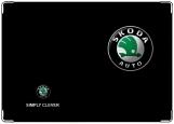 Обложка на автодокументы с уголками, Skoda