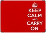 Обложка на паспорт с уголками, Keep Calm