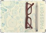 Обложка на паспорт с уголками, Очки