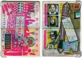 Обложка на паспорт с уголками, Разрисованный паспорт
