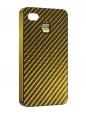Чехол iPhone 4/4S, карбон золотой