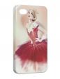 Чехол iPhone 4/4S, Балерина