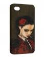 Чехол iPhone 4/4S, девушка с сыгаретой 2