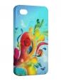 Чехол iPhone 4/4S, Буйство красок