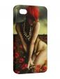 Чехол iPhone 4/4S, Девушка в маках