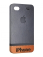 Чехол iPhone 4/4S, Кожаный