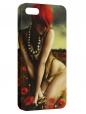 Чехол для iPhone 5/5S, Девушка в маках