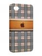 Чехол iPhone 4/4S, apple на клетке