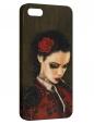 Чехол для iPhone 5/5S, девушка с сигаретой 2
