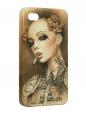 Чехол iPhone 4/4S, Девушка с сигаретой