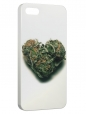 Чехол для iPhone 5/5S, heart ganja