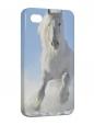 Чехол iPhone 4/4S, Белый конь.