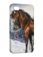 Чехол iPhone 4/4S, Снежный конь.
