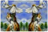 Обложка на ветеринарный паспорт, Кот и ангел