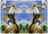 Обложка на паспорт с уголками, Кот и ангел