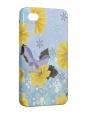 Чехол iPhone 4/4S, Бабочка и цветы.