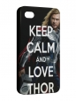 Чехол iPhone 4/4S, keep calm thor