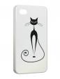 Чехол iPhone 4/4S, Черная кошка.