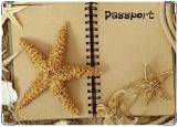 Обложка на паспорт с уголками, морские звезды