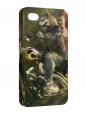 Чехол iPhone 4/4S, Волк и Красная Шапочка.