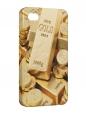 Чехол iPhone 4/4S, Слитки золота.