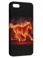 Чехол для iPhone 5/5S, Конь-огонь