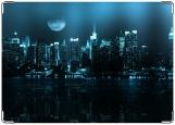 Обложка на паспорт с уголками, ночной город