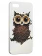Чехол для iPhone 5/5S, Кофейная сова