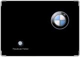 Обложка на автодокументы с уголками, BMW С удовольствием за рулём