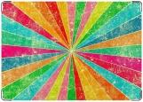 Обложка на паспорт, Разноцветные лучи