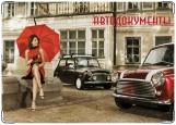 Обложка на автодокументы с уголками, Lady_in_Red