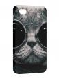 Чехол iPhone 4/4S, Кот-хипстер