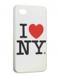 Чехол iPhone 4/4S, I love NY