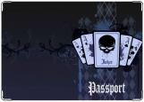 Обложка на паспорт с уголками, Покер