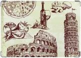 Обложка на паспорт с уголками, Италия Italy