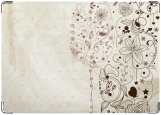 Обложка на паспорт с уголками, Бокал и цветы