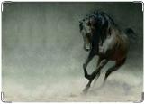 Обложка на автодокументы с уголками, Лошадь