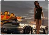 Обложка на автодокументы с уголками, Девушка с автомобилем