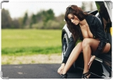 Обложка на паспорт с уголками, Девушка с автомобилем