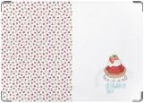 Обложка на паспорт с уголками, strawberry