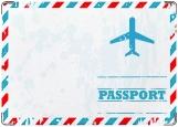 Обложка на паспорт с уголками, Travel