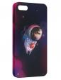Чехол для iPhone 5/5S, Ёжик в космосе