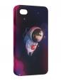 Чехол iPhone 4/4S, Ёжик в космосе